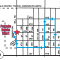A map showing the parade route for July 4, starting southbound at Mission Drive and Mill Road, going east on 2nd Ave. before turning north on Main. After turning east on 6th Ave, the route heads south along 2nd St NE to turn east on 2nd Ave before ending.